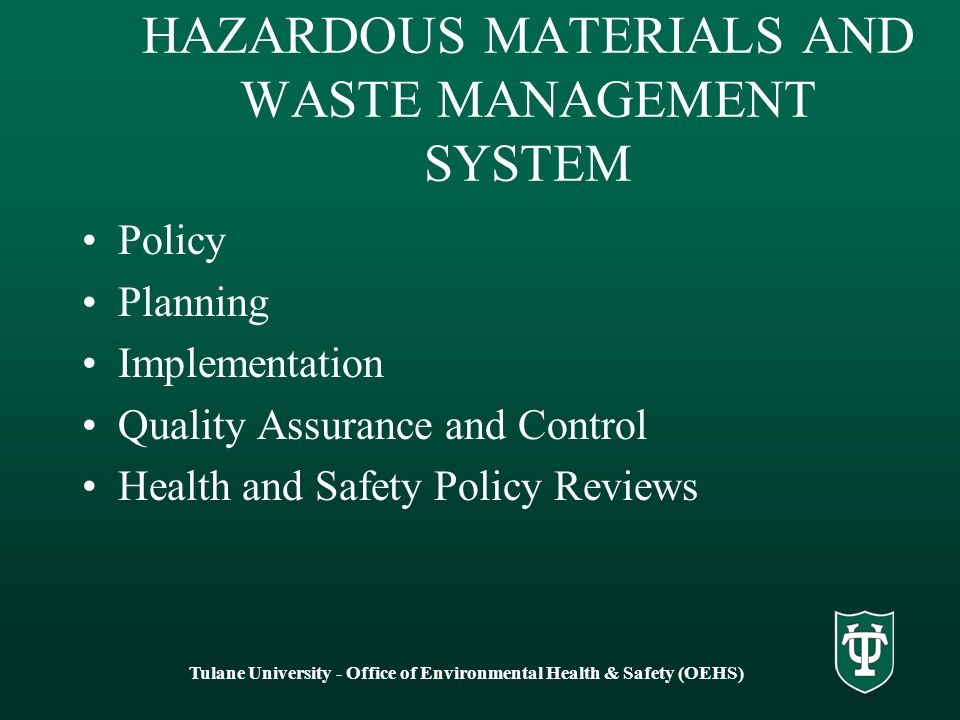 the steps to implement an environmentally conscious waste management plan 2011-9-20 the united states environmental protection agency  to develop an environmentally conscious and  shall take steps to further reduce the solid waste.