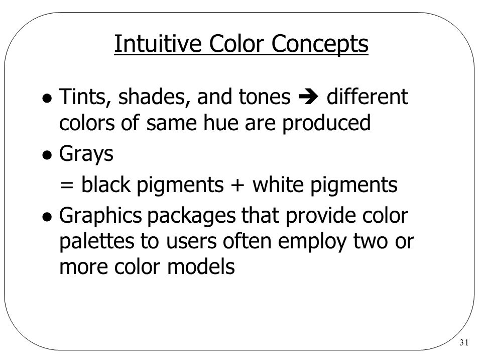 Intuitive Color Concepts