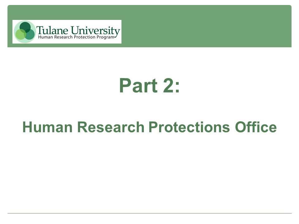 Human Research Protections Office