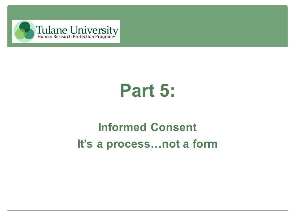 It's a process…not a form