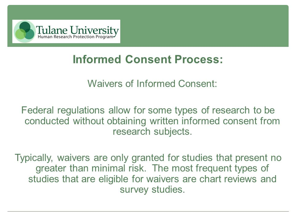Informed Consent Process: