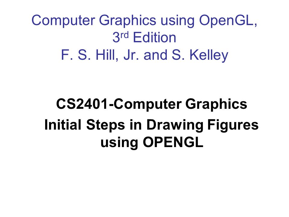 Initial Steps in Drawing Figures using OPENGL