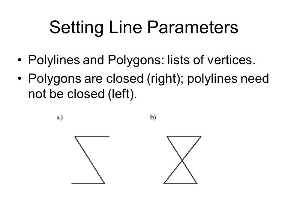 Setting Line Parameters