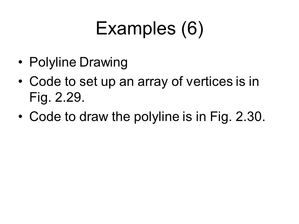 Examples (6) Polyline Drawing