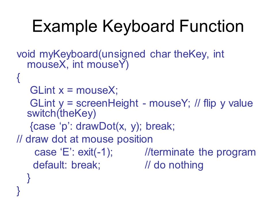Example Keyboard Function