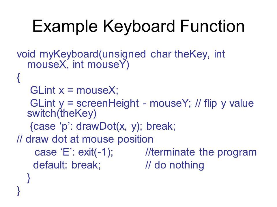 Example Keyboard Function