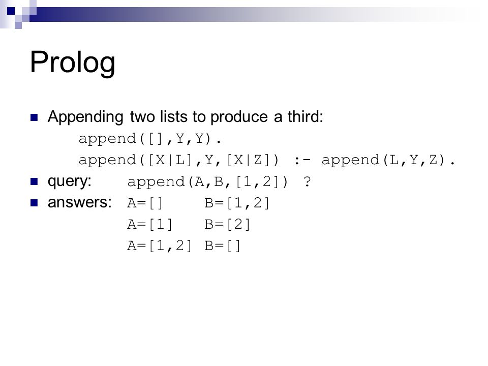 Prolog Appending two lists to produce a third: append([],Y,Y).