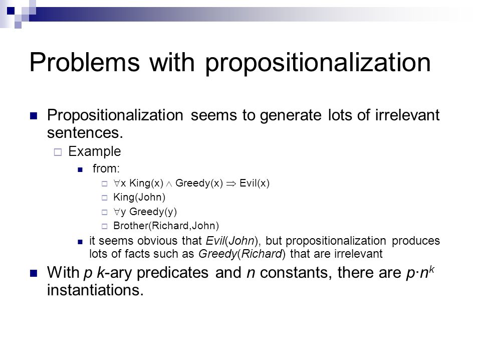 Problems with propositionalization
