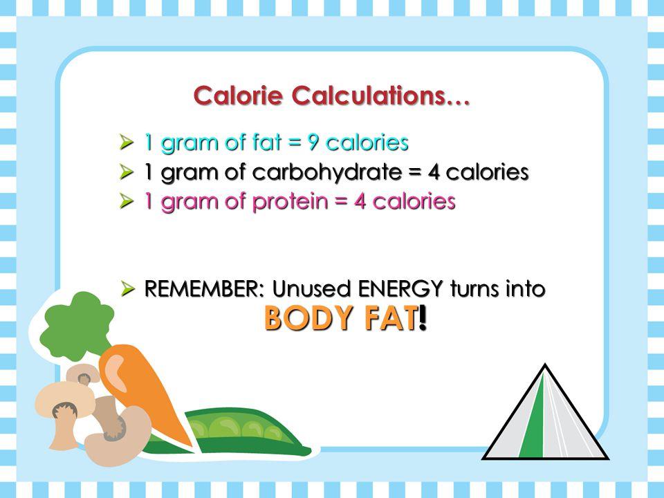 Calorie Calculations…