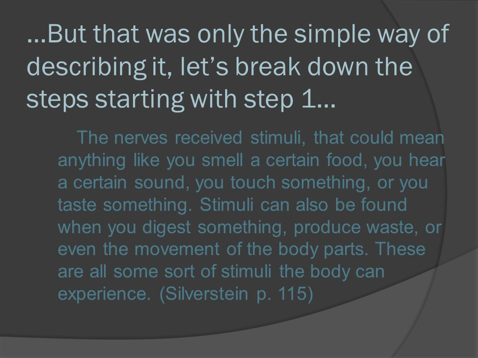 …But that was only the simple way of describing it, let's break down the steps starting with step 1…