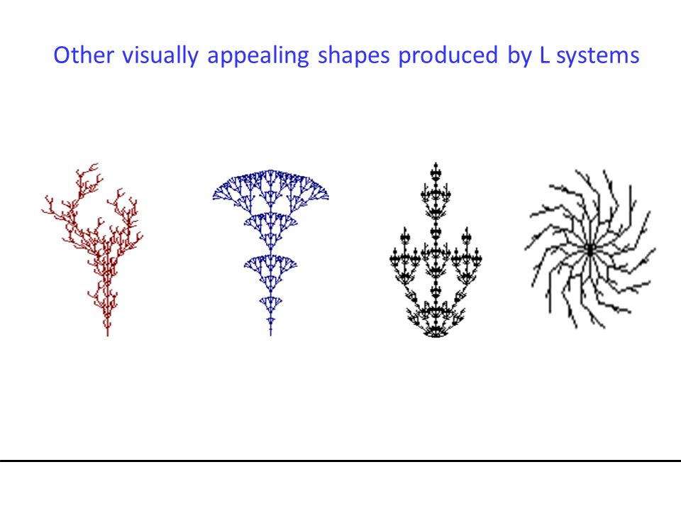 Other visually appealing shapes produced by L systems