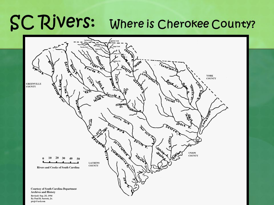 SC Rivers: Where is Cherokee County