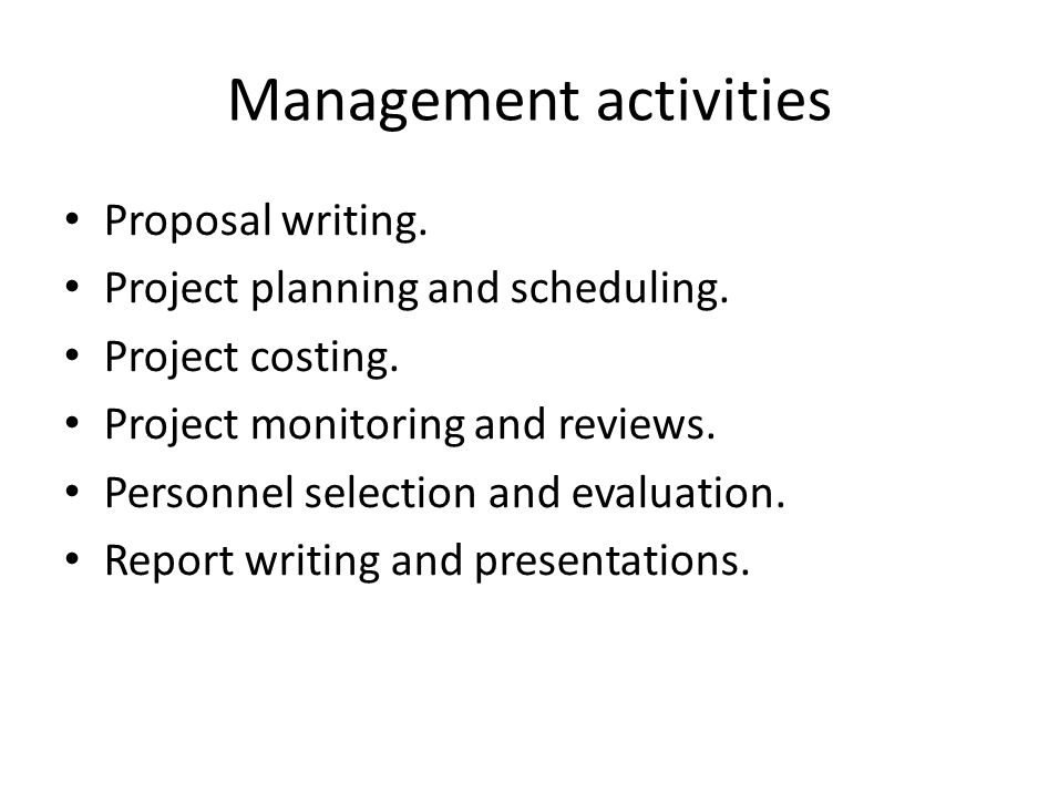 writing a management report