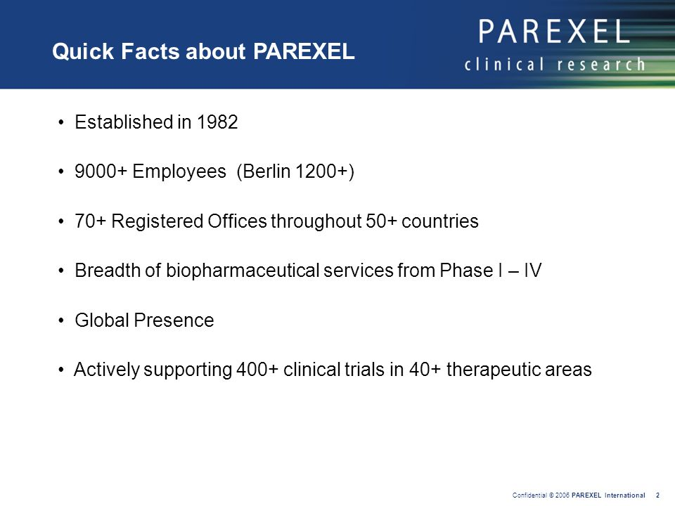 Quick Facts about PAREXEL