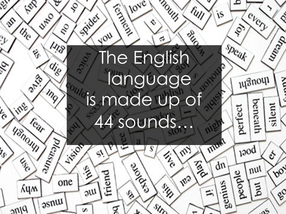 The English language is made up of sounds…