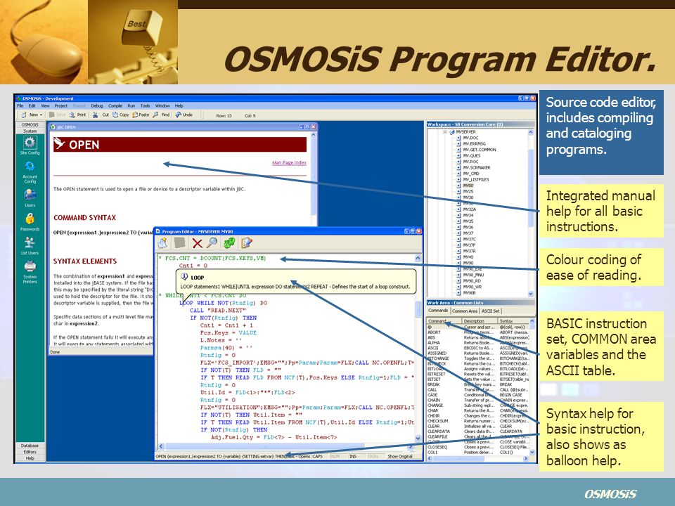 OSMOSiS Program Editor.