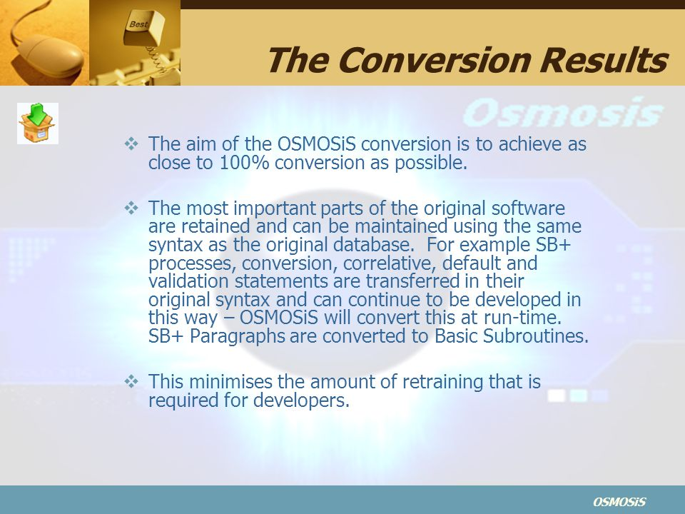 The Conversion Results