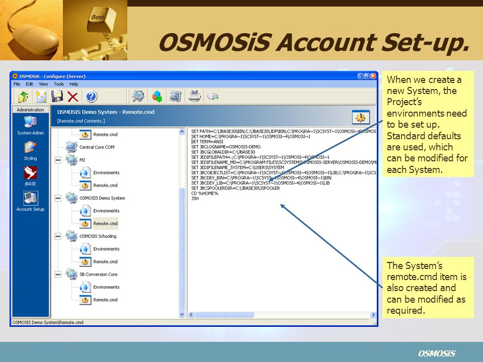 OSMOSiS Account Set-up.