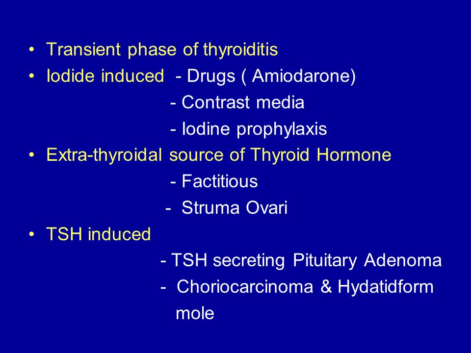 Transient phase of thyroiditis