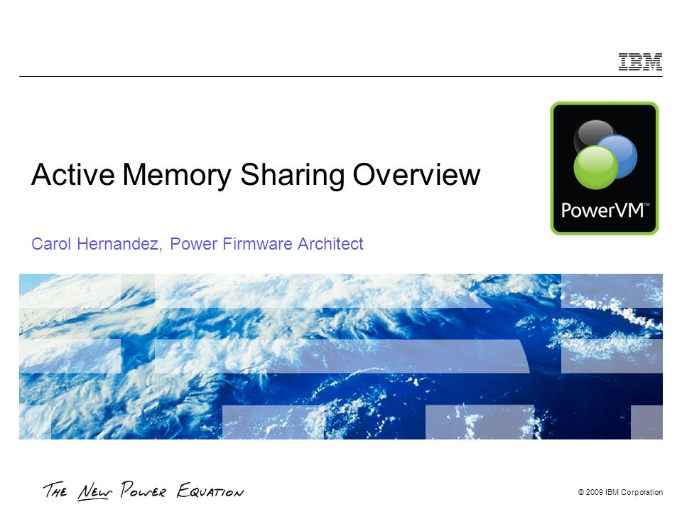 Active Memory Sharing Overview