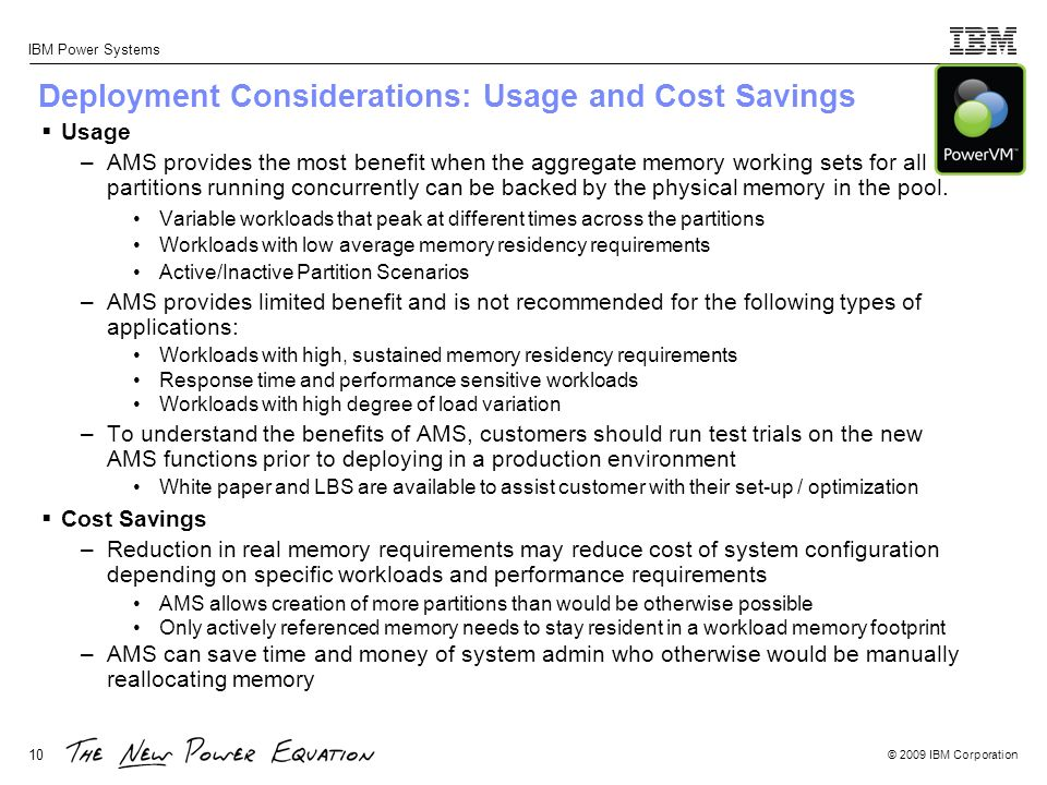 Deployment Considerations: Usage and Cost Savings