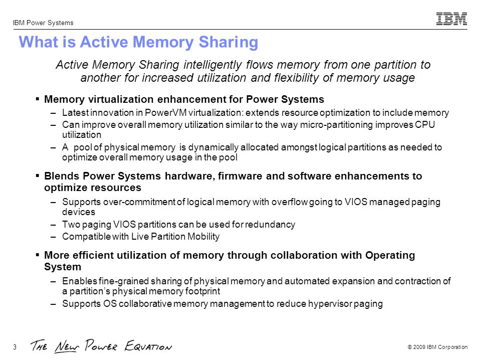 What is Active Memory Sharing