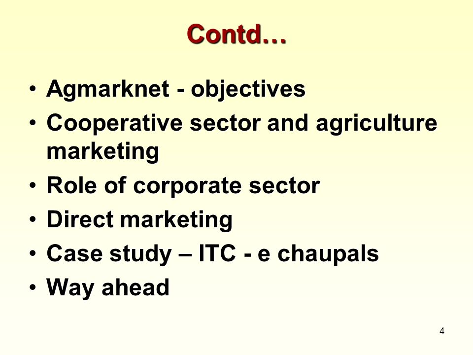 Contd… Agmarknet - objectives