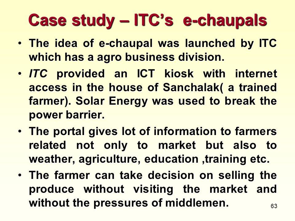 Case study – ITC's e-chaupals