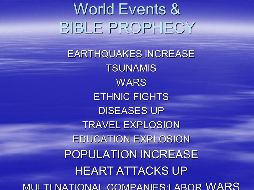 World Events & BIBLE PROPHECY