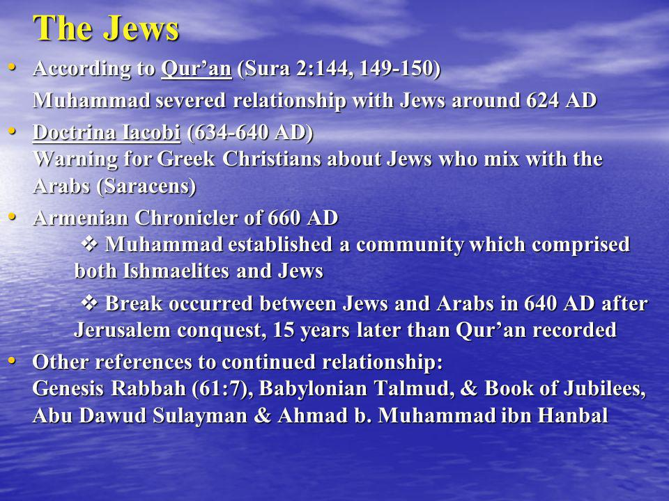 The Jews According to Qur'an (Sura 2:144, 149-150)