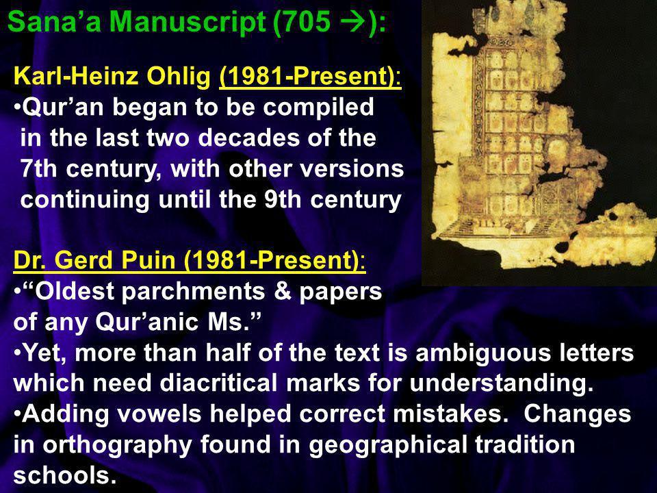 Sana'a Manuscript (705 ):