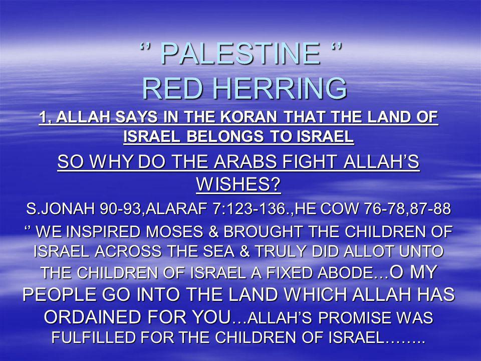 '' PALESTINE '' RED HERRING