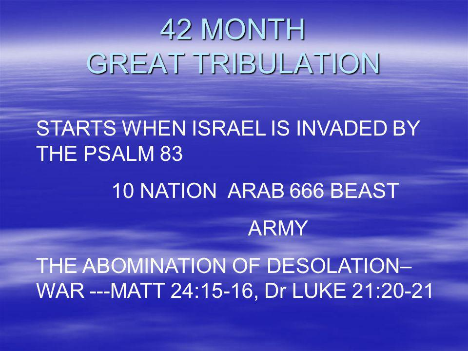 42 MONTH GREAT TRIBULATION
