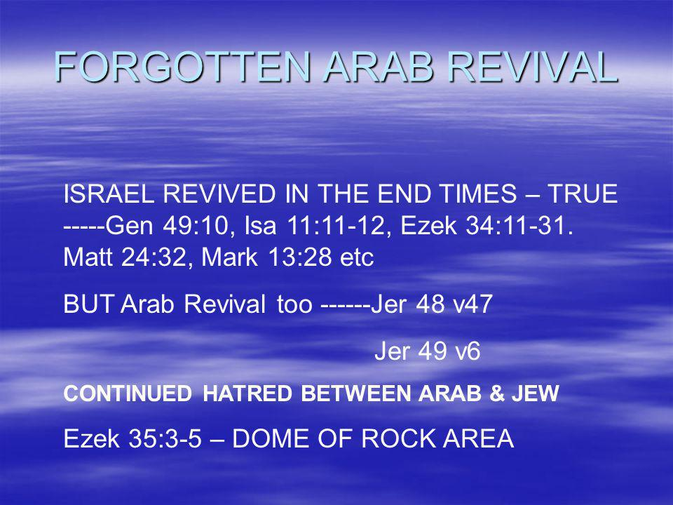 FORGOTTEN ARAB REVIVAL