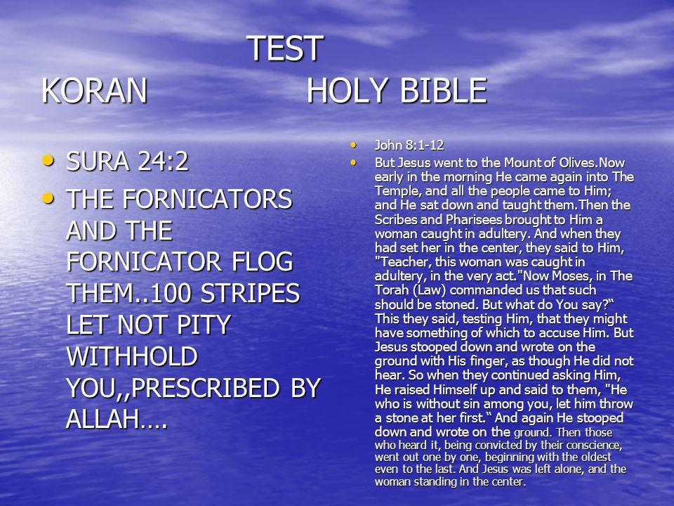TEST KORAN HOLY BIBLE SURA 24:2