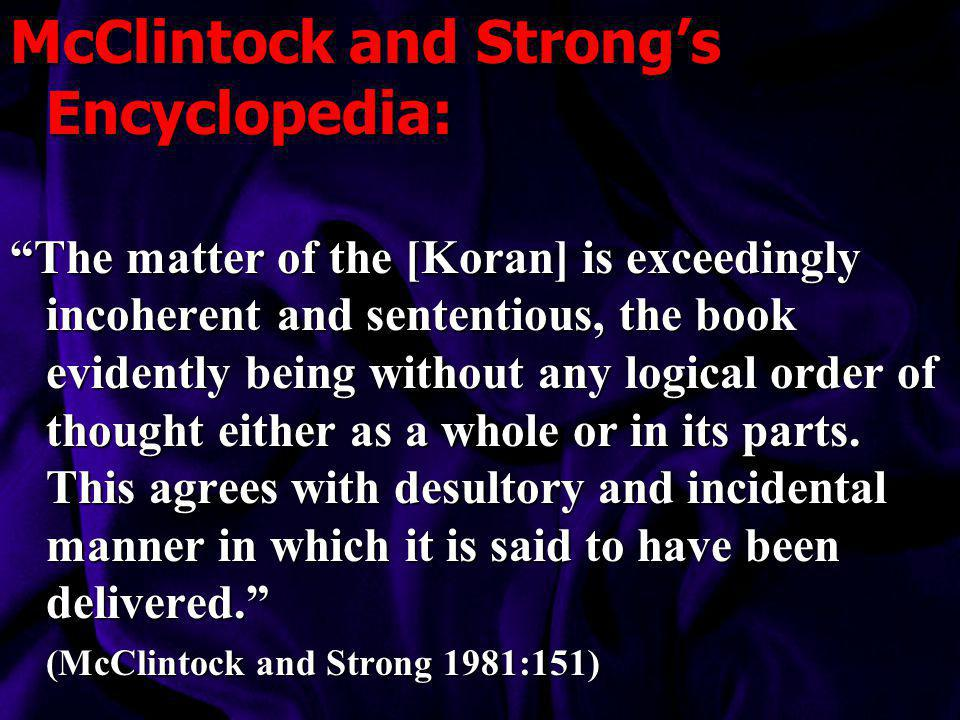McClintock and Strong's Encyclopedia: