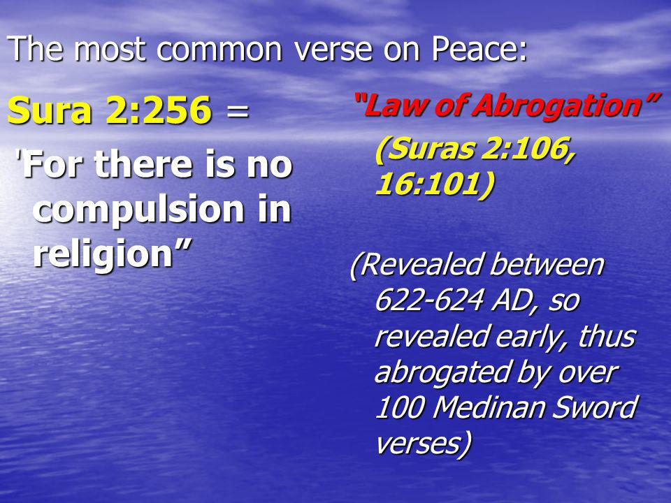 The most common verse on Peace: