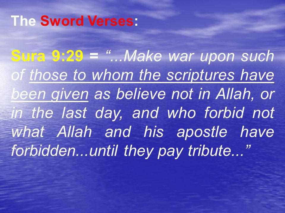 * 07/16/96. The Sword Verses: