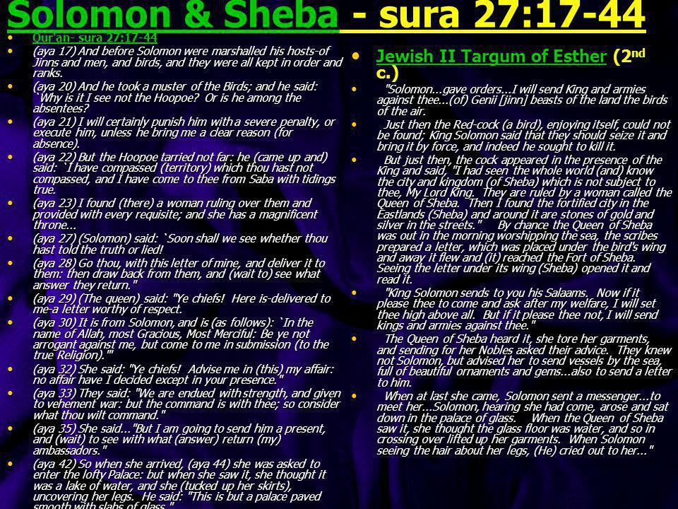 Solomon & Sheba - sura 27:17-44