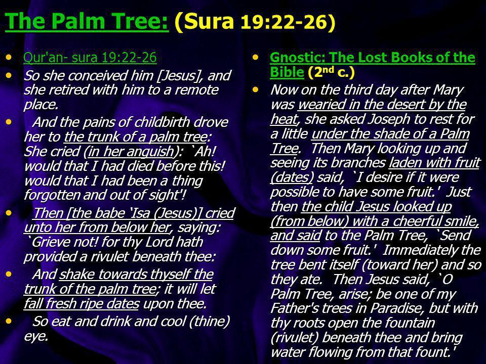 The Palm Tree: (Sura 19:22-26)