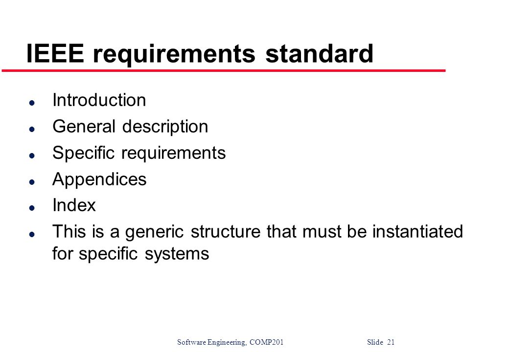 Software requirements ppt download for Ieee definition