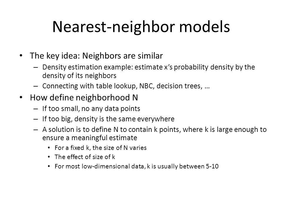 Nearest-neighbor models