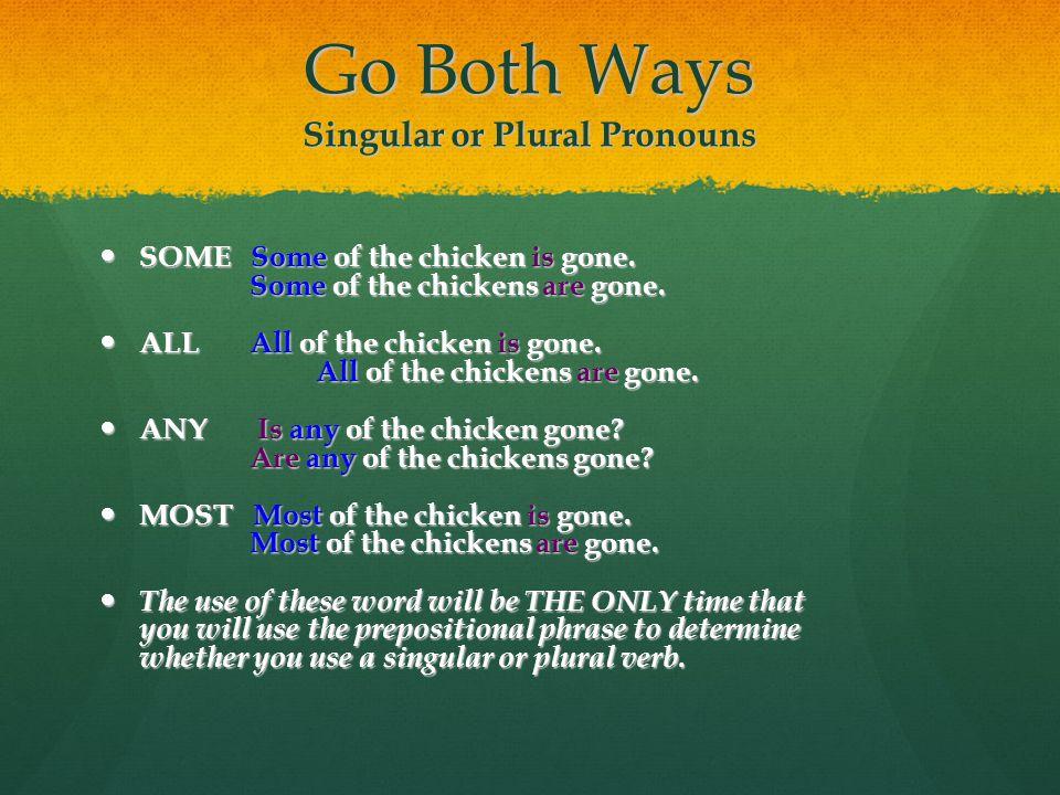 Go Both Ways Singular or Plural Pronouns