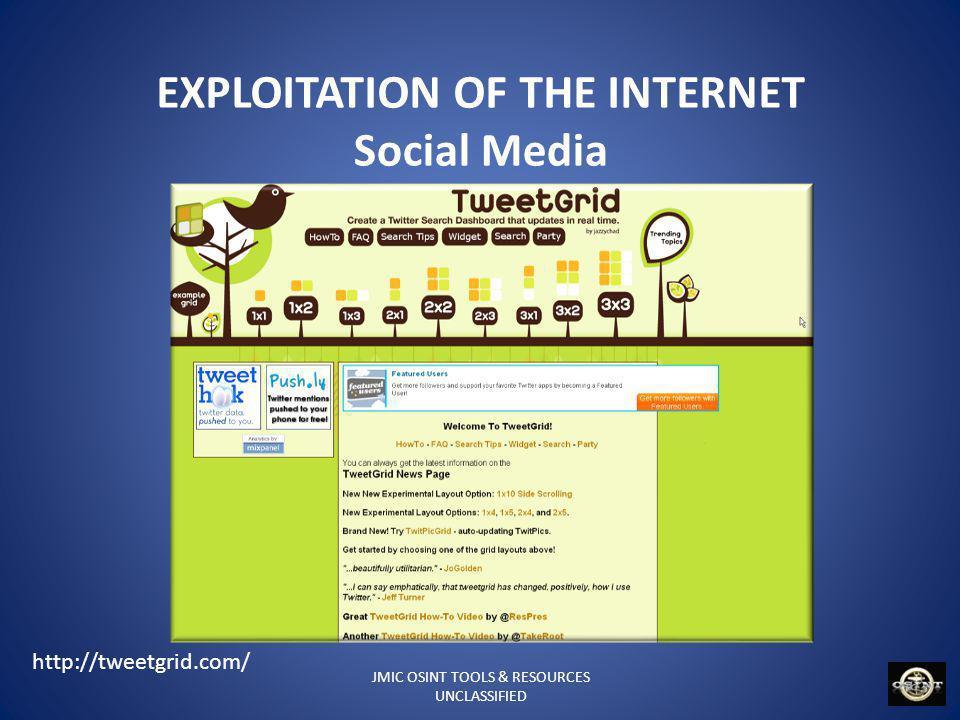 EXPLOITATION OF THE INTERNET