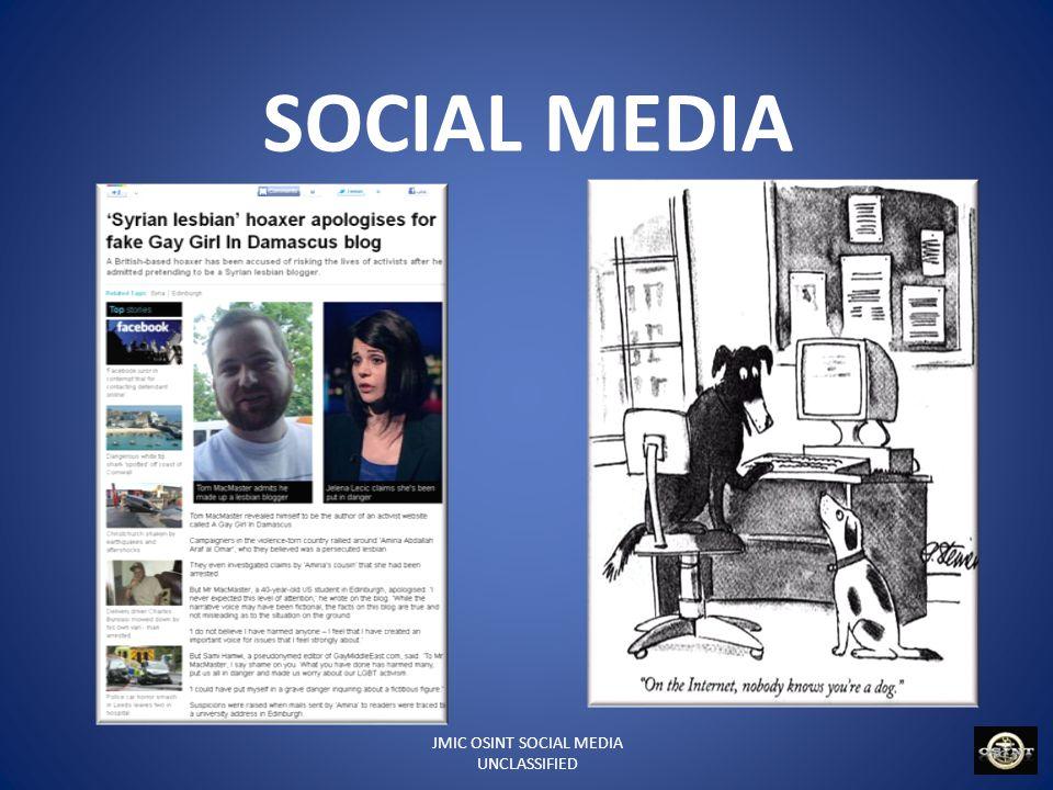 JMIC OSINT SOCIAL MEDIA