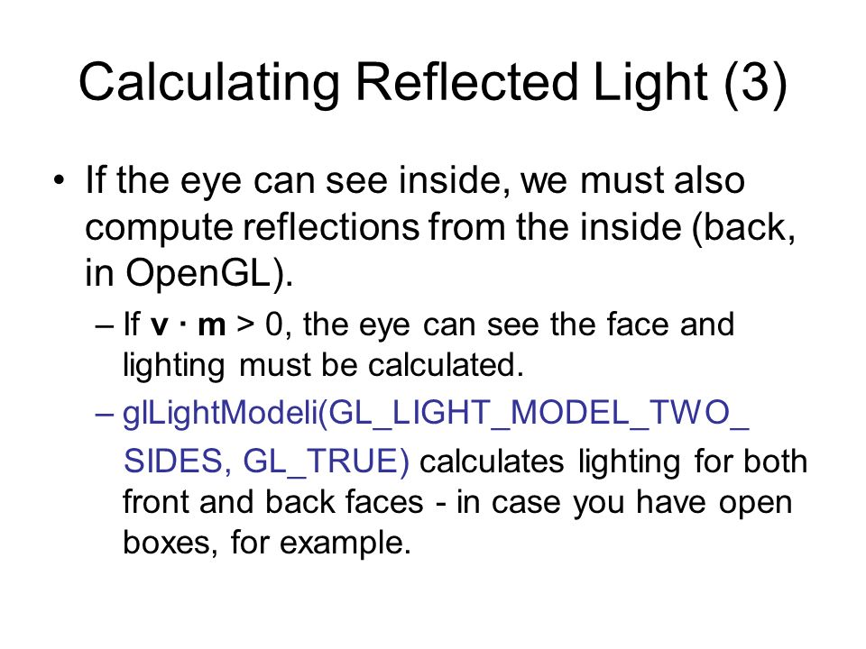 Calculating Reflected Light (3)