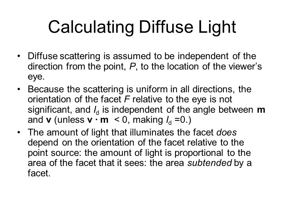 Calculating Diffuse Light