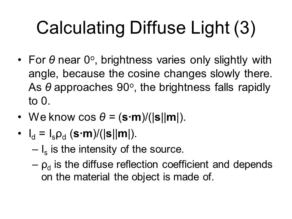 Calculating Diffuse Light (3)