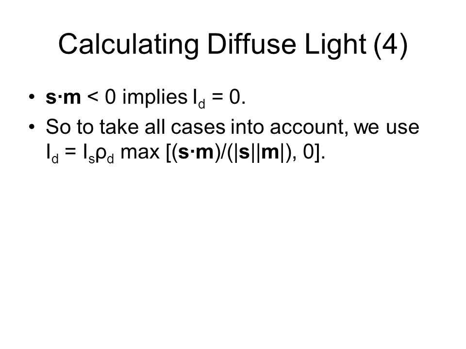Calculating Diffuse Light (4)