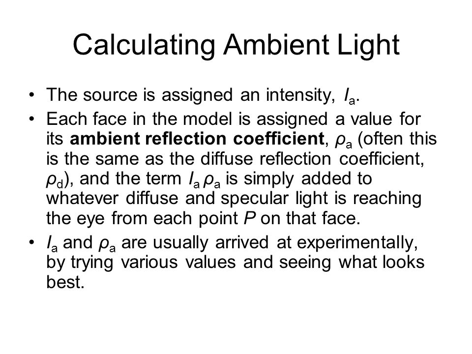 Calculating Ambient Light